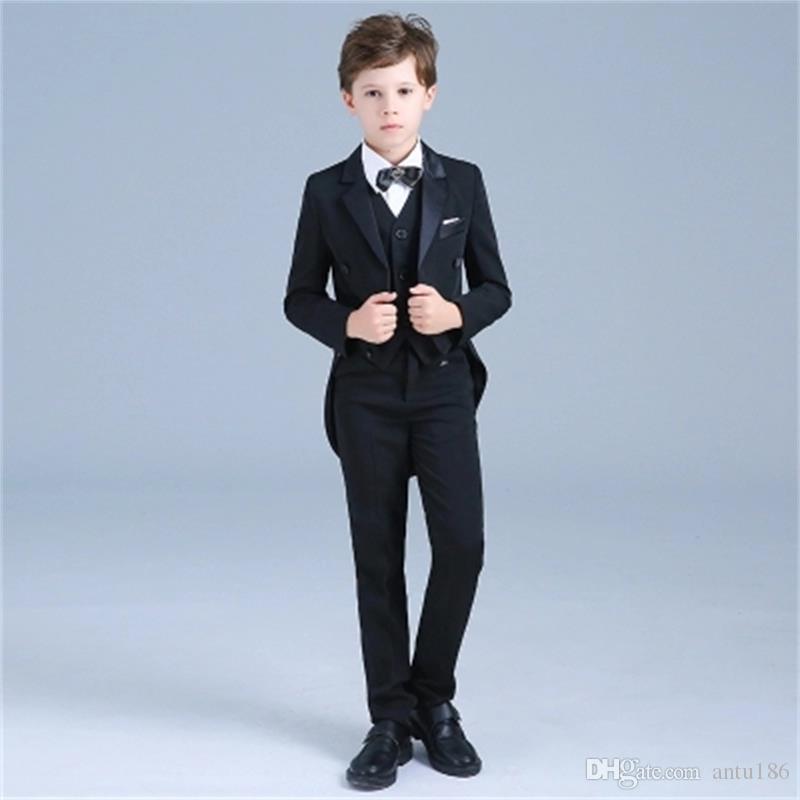 Erkek beyefendi yakışıklı smokin takım elbise üç parçalı takım (ceket + pantolon + yelek) erkek düz renk ince moda takım elbise destek özel