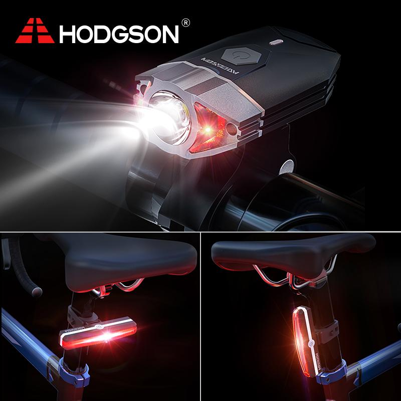 Super Bright Front Light and LED Bike HODGSON Both USB Rechargeable Bike Light