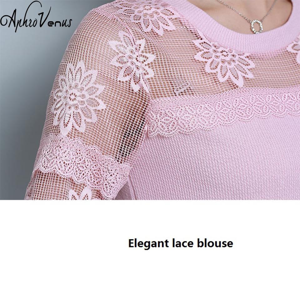 Blusas Mujer De Moda Camicetta Donna Sexy Elegante Camicia di Pizzo Scava Fuori Floreale Blusa Elegante O-Collo Donna Supera Per Woek Wemen 2018