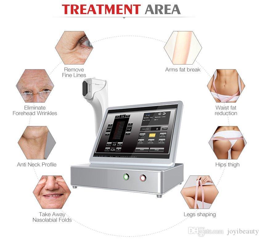 3D HIFU Estiramiento de la piel Anti Aging máquina Máquinas de arrugas HIFU 3d portátil con 8 cartuchos Certificado CE