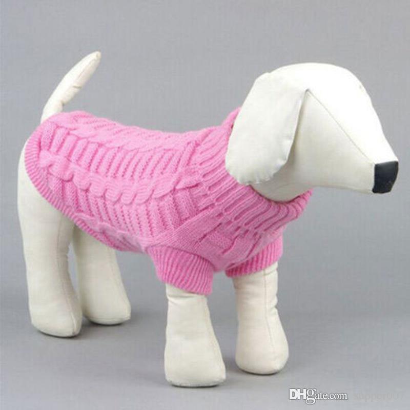 Małe Pet Dog Ciepły sweter Ubrania Mały Puppy Pies Winter Coat S XS-XXL