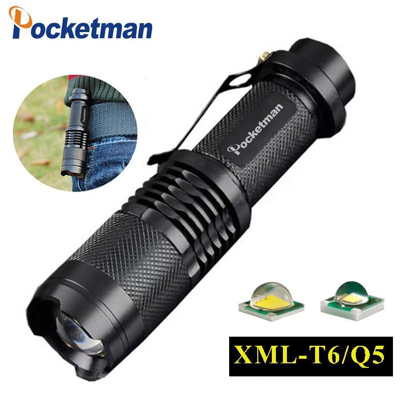 T6 Q5 lampe de poche 3000ML Zoomable Tactical Flashlight torche led étanche