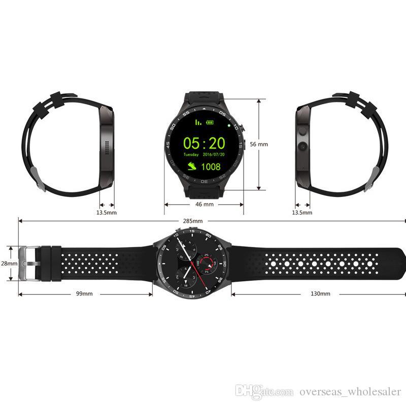"GPS Smart Watch Récompense cardiaque imperméable WiFi 3G LTE Smart Bracelet Android MTK6580 1.39 ""Dispositifs portables Watch pour Android IOS Watch"