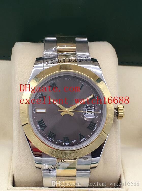 3 estilo moda de luxo relógios data apenas 41 mm 126333 126303 asiático 2813 automático de mecânica de dois tons relógio de pulso dos homens de ouro