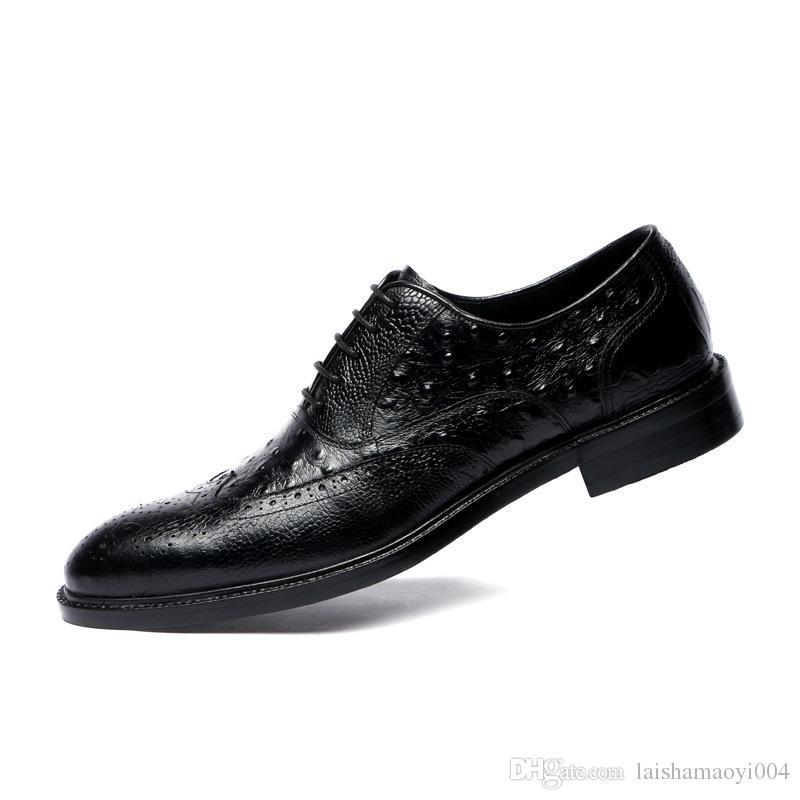 2018 handmade Genuine Leather Shoes designer Vintage fashion luxury casual Wedding Party brand male shoe Genuine Leather Mens monk dress Sho
