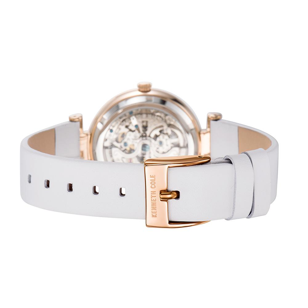 fe38f440d3f Wholesale Original Women Watches Auto Mechanical Ladies Watch KC15107001  Leather Strap Khaki White Luxury Brand Watches Wristwatch Online Shopping  Online ...