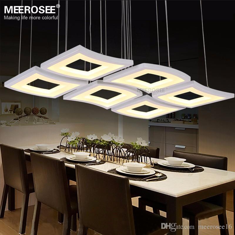 Modern LED Chandelier Dining Room Ceiling Light Acrylic Pendant Lamp Fixtures