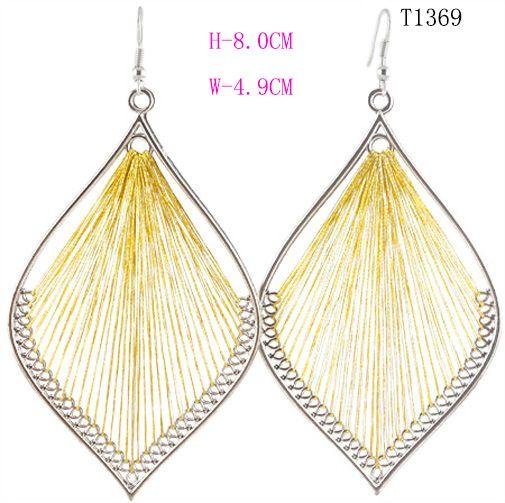 T1369 Fashion Handcraft charme Leaf Style Mignon or Fil Dangle Boucles d/'oreilles Nouveau