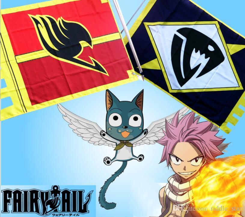 Un tamaño de Japón Anime Hot Fairy Tail Halloween Cosplay Prop Rojo Unisex Accesorios Bandera Bandera Regalo