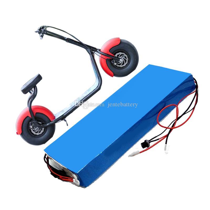 325 * 100 * 58mm Größe 60V 12Ah Li Ion Elektroroller Batterie für 400W bis 2000W Motor + 30A BMS mit 2A Ladegerät