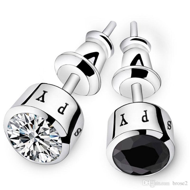 النحاس مطلي أقراط الرجال واحدة اليابانية والكورية شخصية الماس المد الذكور الأقراط الأقراط الأزياء