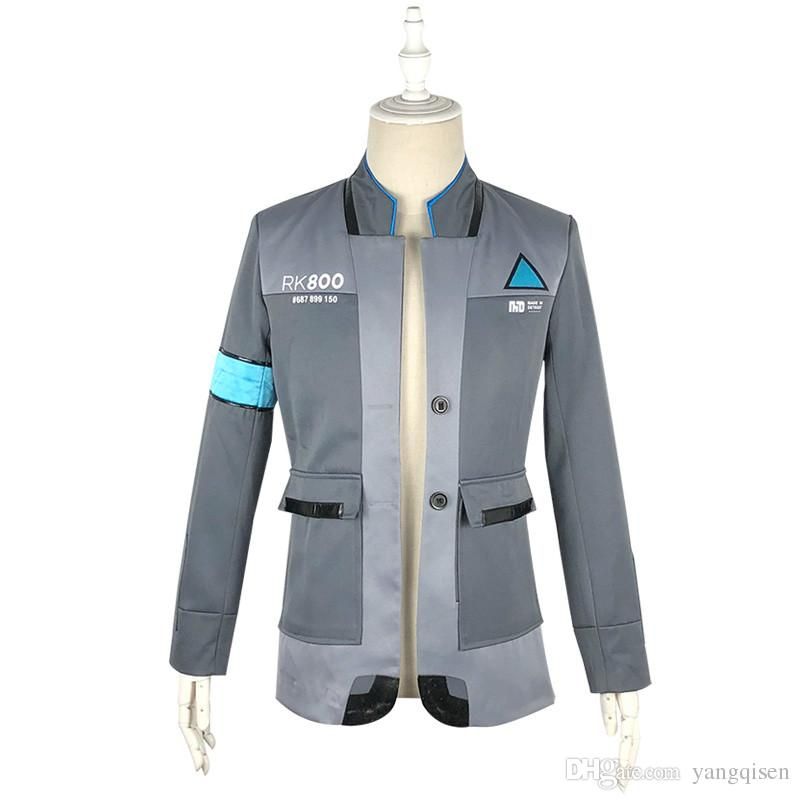 New 2018 Game Detroit Become Human Connor Rk800 Agent Suit Uniform Tight Unifrom Cosplay Costume For Halloween Men Halloween Costumes Halloween Accessories From Yangqisen 38 82 Dhgate Com