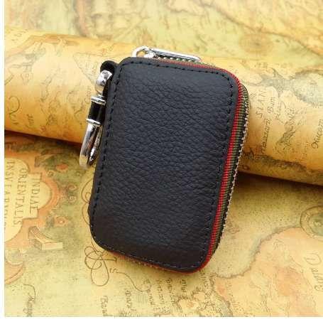 Araba anahtarları için anahtarlık cüzdan kılıfı çanta Hakiki deri anahtarlık kahya araba anahtarı durum organizatör Logos için ücretsiz
