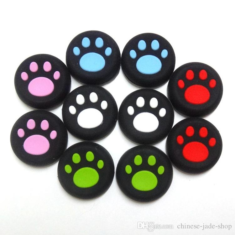 5 color Cat Claw Rubber Silicone Joystick Cap Thumb Stick Grip Grips Caps For PS4 PS3 Xbox one 360 Controller for Switch NX NS 1000PCS/LOT