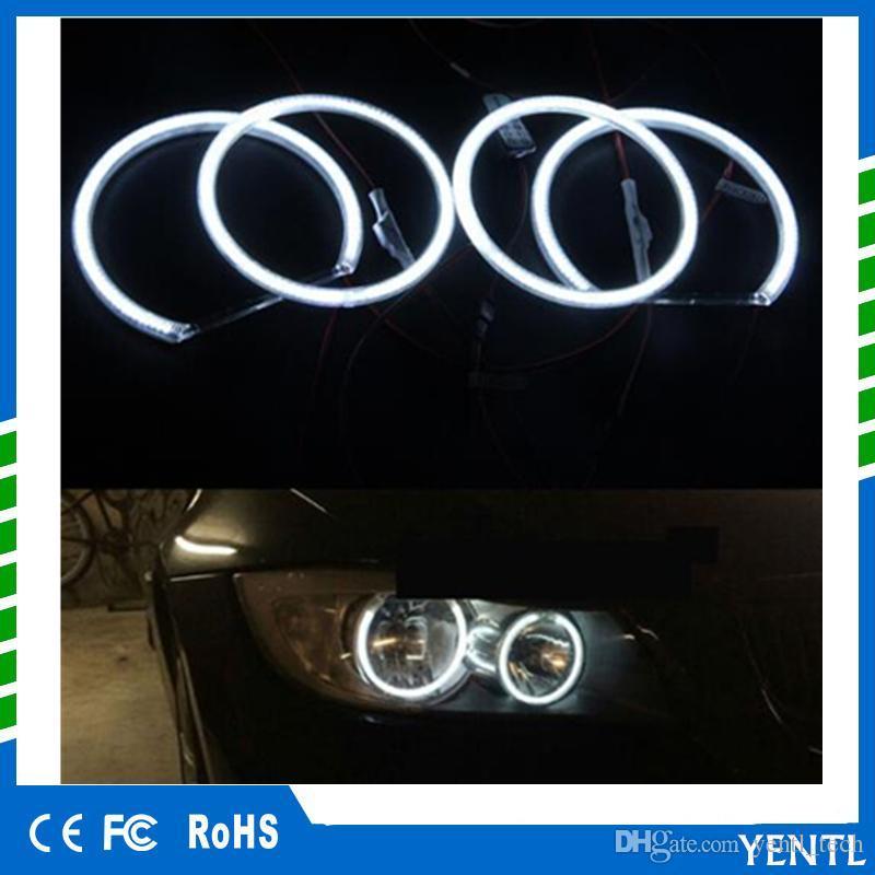 Livraison gratuite yentl 4 pièces / lot LED Ange Yeux Anneaux Blanc Clair Pour BMW E36 E38 E39 E46 3 5 Série 7 Blanc Chaud Led Car Styling