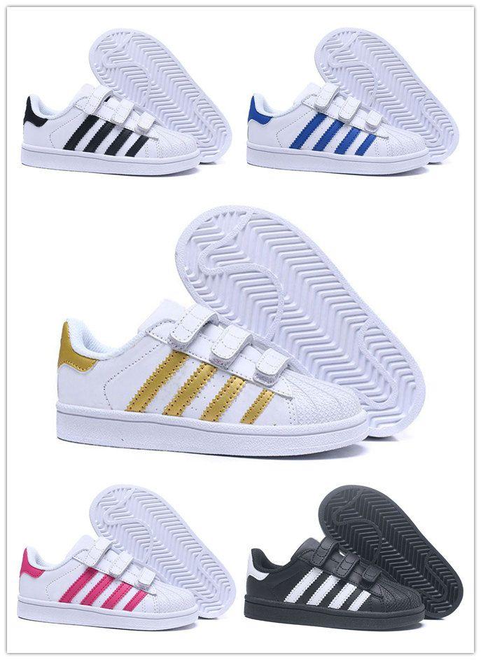 Großhandel Adidas Superstar Dorp Versand 18 Farben Superstar Mode Mädchen Junge Big Kids Schuhe Turnschuhe Casual Sport Lederschuh Von Cool_shoes88,