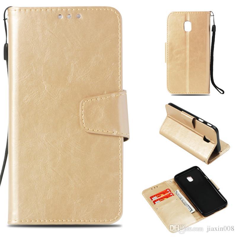 Custodia Flip retrò per Samsung Galaxy J3 Pro / J330 J3 edizione 2017 copertura del raccoglitore europeo casi fondina imitazione pelle PU sacchetti del telefono in pelle