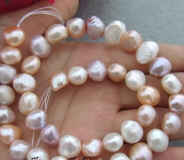 Branelli allentati barrocco della perla coltivata d'acqua dolce viola bianca di colore rosa di verde di trasporto 9-10mm