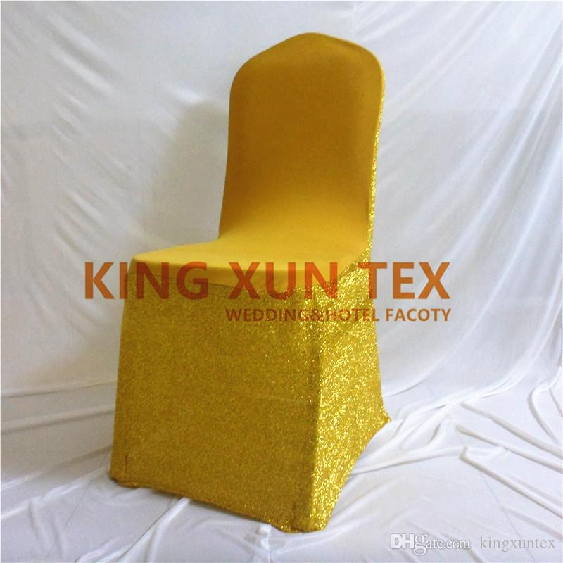 Shiny Light Cheap Wedding Lycra Spandex Chair Cover \ Banquet Chair Covers Gold And Silver Color Free Shipping