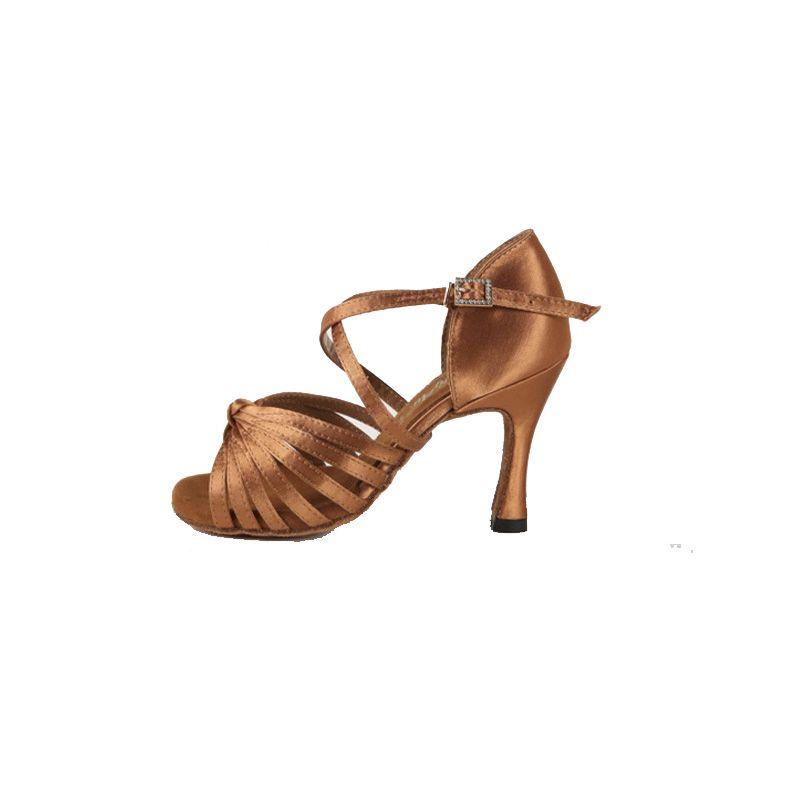 nuovo prodotto 0fead d5b91 Acquista Qualità Professionale Focus Latino Scarpe Da Ballo Donna Latino  Scarpe Da Ballo Ragazze Scarpe Da Ballo Salsa Scuro Tan Nero A $62.32 Dal  ...