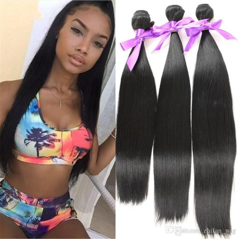 ZhiFan straight hair piece styles hair bundles online extensions colours straighten for black women south africa
