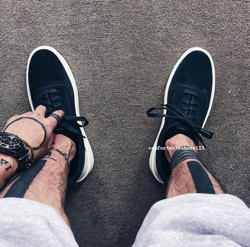 neue Luxus-mercerized Leder mit Box-Verpackung Luxusgut Fear Of God 101 Low Top Sneaker Old Skool Designer Männer Frauen Schuhe