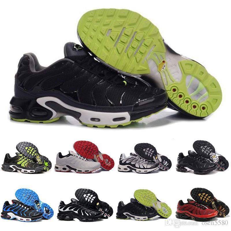nike Tn plus air max 2018 nuovi uomini TN scarpe vendono come le torte calde moda aumentato ventilazione casuale scarpe oliva scarpe da ginnastica GS scarpe, spedizione gratuita