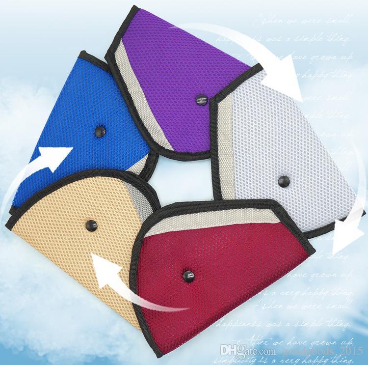 Triangle Child Car Safety Belt Holder Child Resistant seat cover Protector Shave Baby Adjuster Car Seat Belt Extender c786