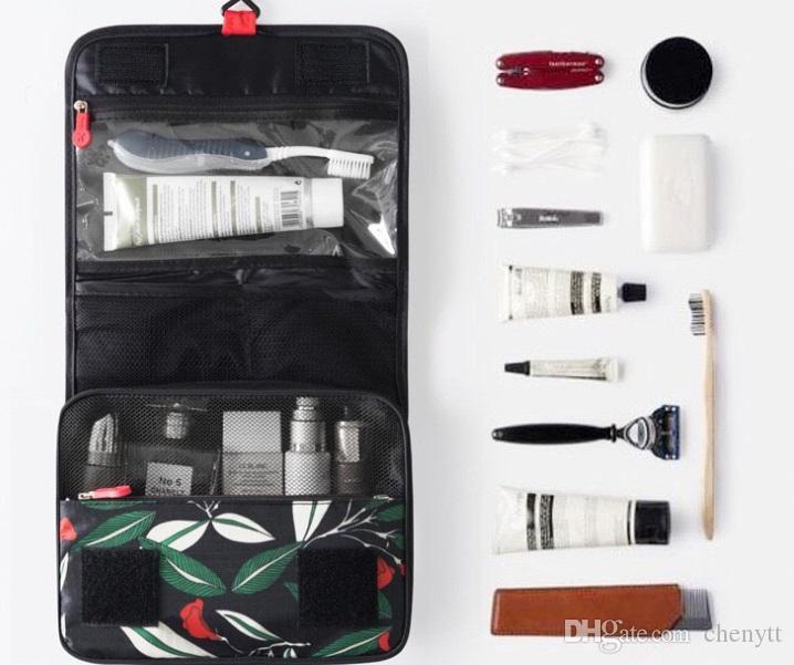 2018 جديدة ذات سعة كبيرة غسل حقيبة السفر حقيبة مستحضرات التجميل متعددة الوظائف الذكور والإناث المحمولة تخزين مربع هوك غسل حقيبة السفر