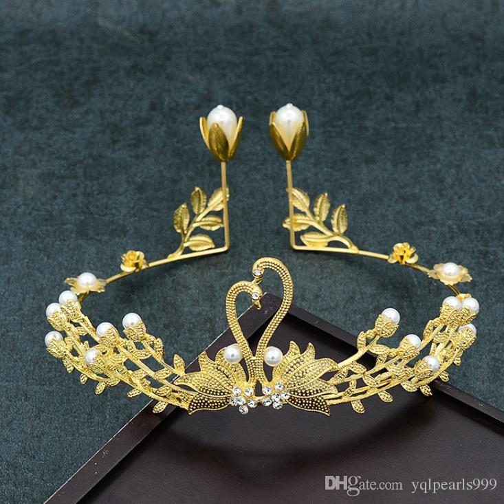 New Swan cake baking accessories, hoop, gold accessories, photo studio, photo accessories, crown brides.