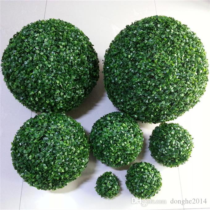 Simulation Of Grass Ball Plastic Ball Fabric Silk Green Artificial Grass Kissing Ball For Wedding Party Outdoor Decoration