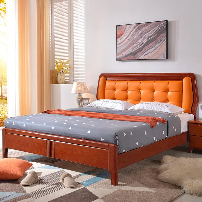 2019 Simple Modern Furniture Solid Oak Bed 1.8 M Small Apartment Economy  Master Bedroom Double Bed From Baihexinyuanjiaju, $482.42 | DHgate.Com