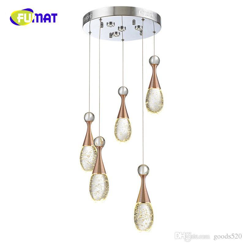 2018 BUBBLE FASH BREVE LED Lampada di cristallo Lampada a sospensione a goccia d'acqua Pendente per il profumo bottiglia illuminazione lampade da barroni personalizzate rettangolo / base circolare