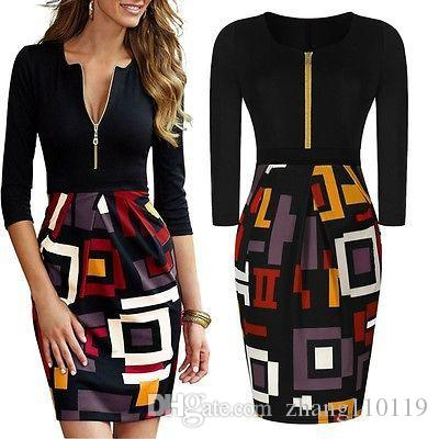 New Women Summer Casual Office Lady Party Midi Dress Casual Bodycon Slim Party Cocktail Pencil Dress Plus Size New