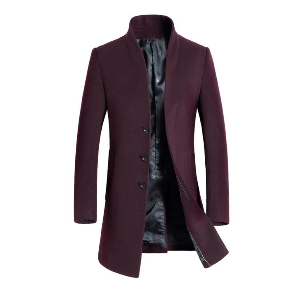 2018 homens luva longa trincheira outono inverno cor puro bolso zíper com capuz top coat simplicidade praty outwear roupas quentes 10