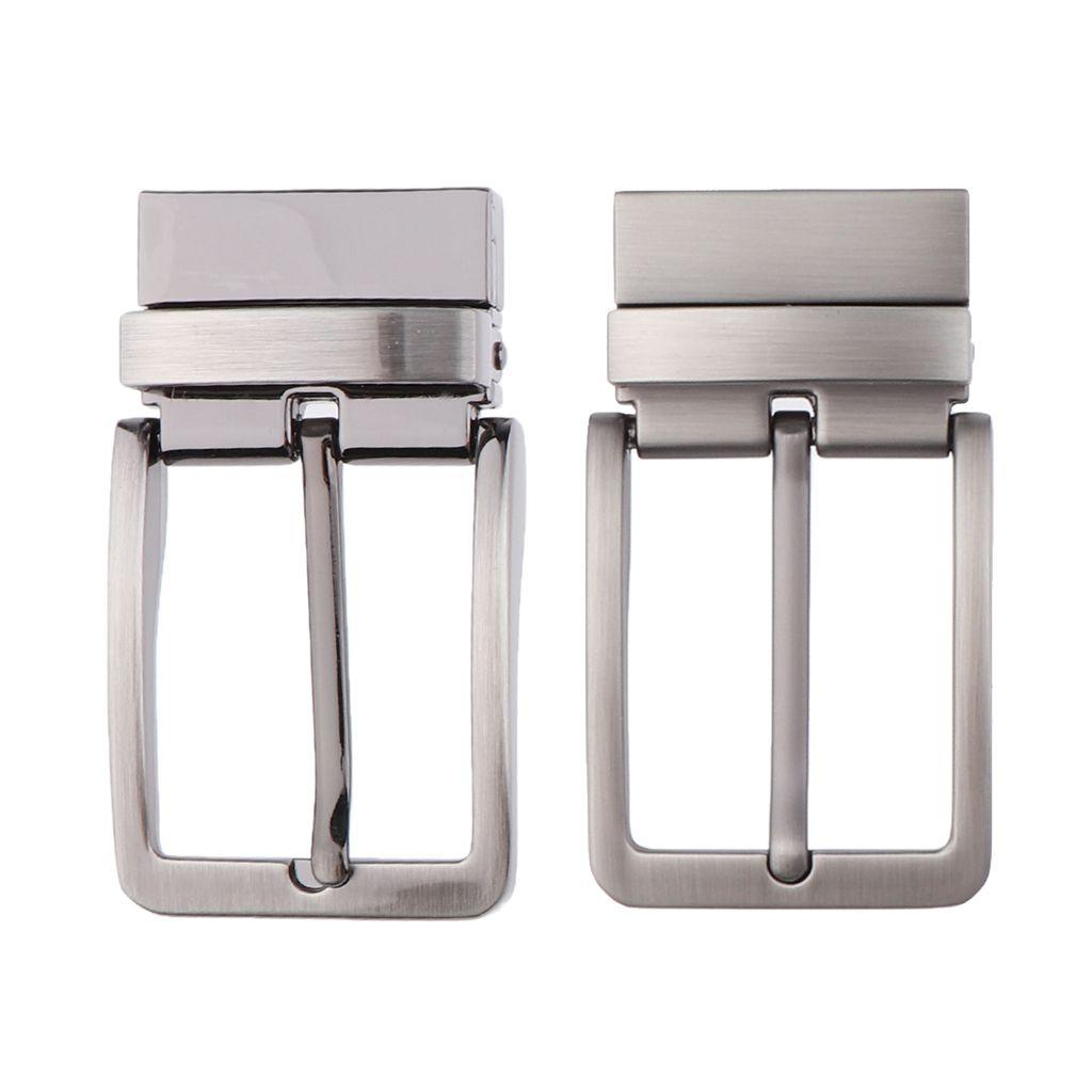 Mens Reversible Metal Alloy Belt Buckles Replacement Pin Buckles Rectangular