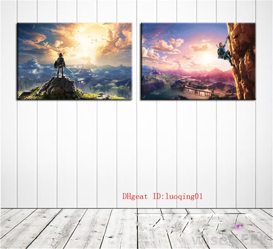 The Legend of Zelda Breath of The Wild , Canvas Pieces Home Decor HD Printed Modern Art Painting on Canvas (Unframed/Framed)
