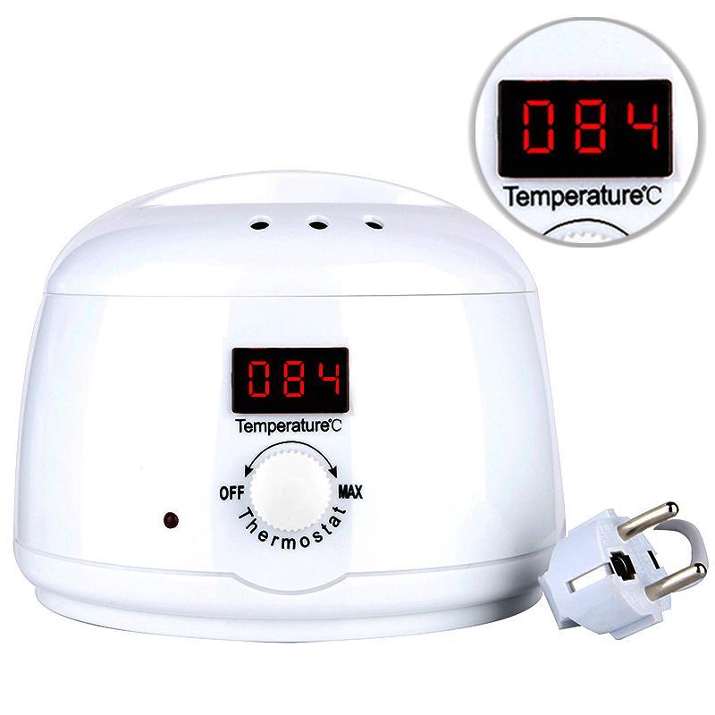 Led Pro Temperatura visible Calentador de cera dura Crisol de fusión Depilación eléctrica Depiladora de cera Máquina depilatoria portátil