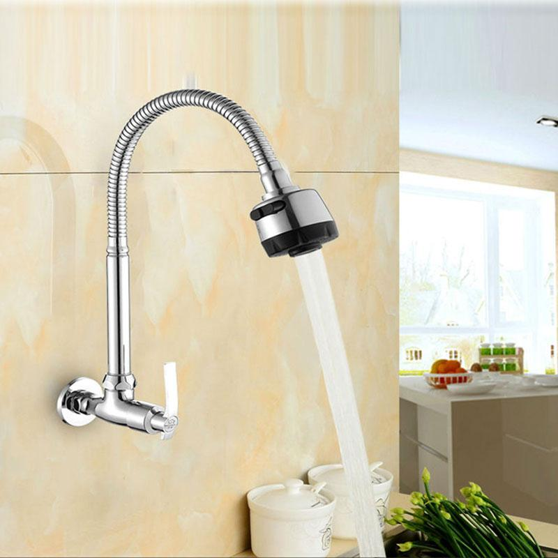 2019 Brass Single Cold Water Wall Mounted Kitchen Faucet Kitchen Sink Tap  Universal Pipe Faucet Can Be Rotated From Lvzhigarden002, $31.07 | ...