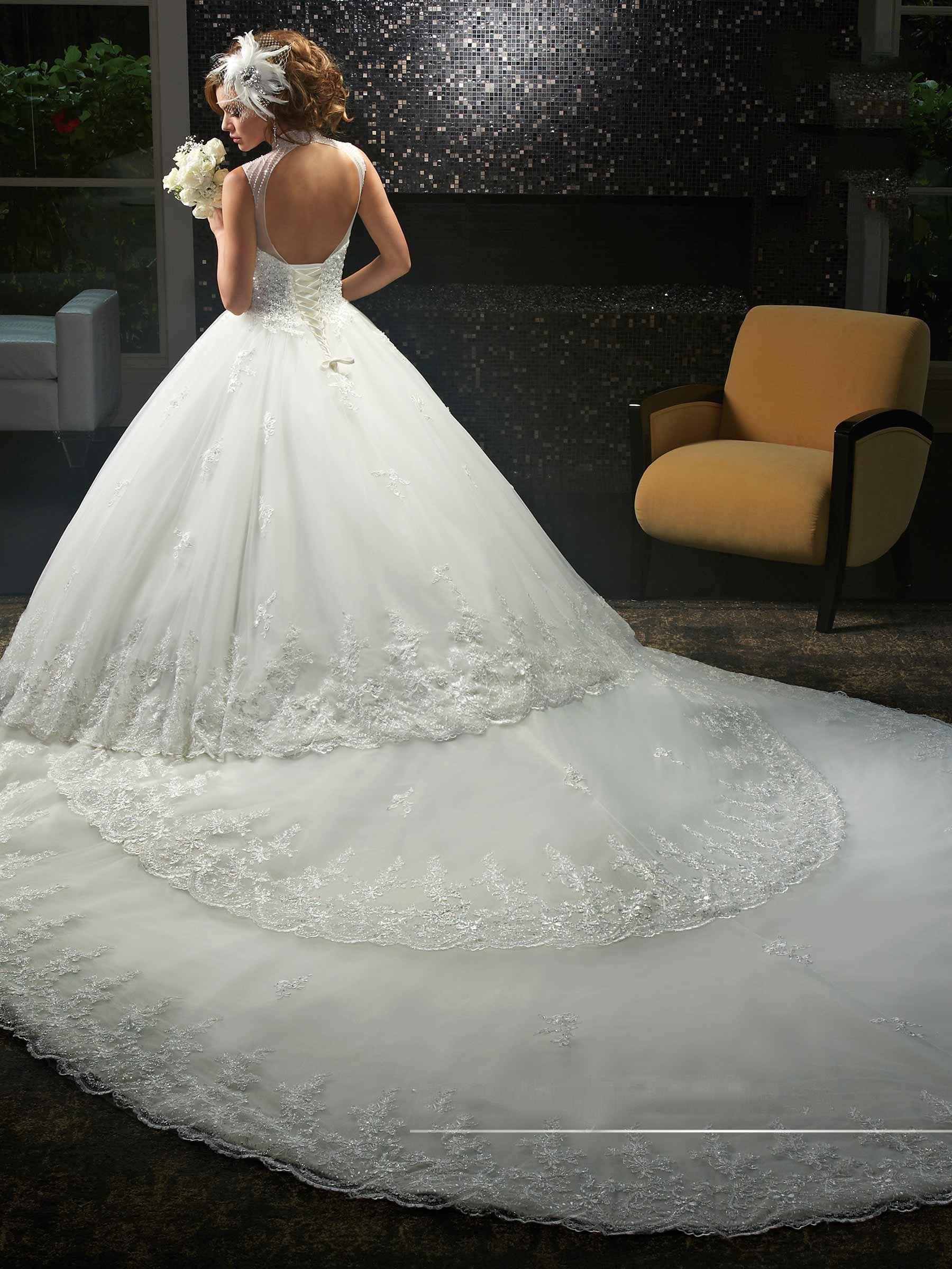 Principessa avorio applique perline cappella abiti da sposa abiti da spettacolo nuziale abiti da sposa abiti personalizzati taglia 2-16 KF913108 coda staccabile