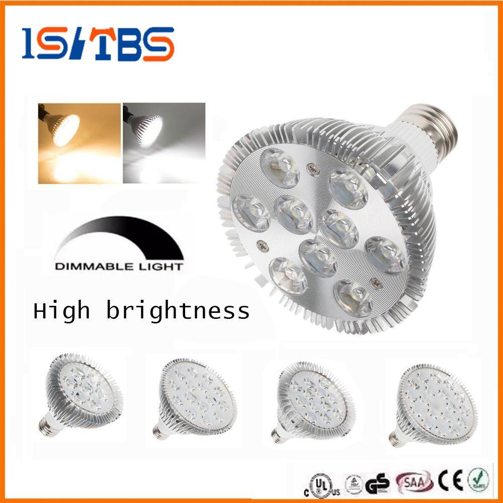 عكس الضوء الصمام كري PAR38 PAR30 PAR20 85-265V 9W 10W 14W 18W 24W 30W E27 LED بقعة إضاءة مصباح النازل ضوء