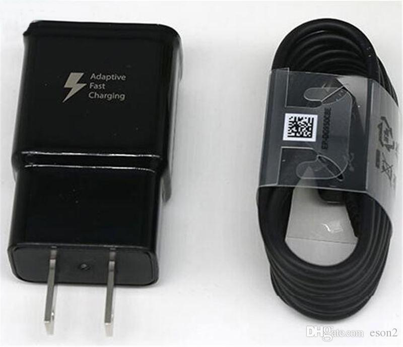 Qualité supérieure S8 2A / 5V 1.67A / 9V Charge rapide chargeur mural usb + 1,2 m S8 Type C Câble EP-TA20JBE pour Samsung S8 S9 note4 5