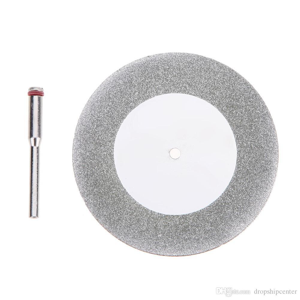 Mandrino a disco diamantato da 60 mm Accessori Dremel Mini sega circolare a lama per sega elettrica per trapano Utensile da taglio a rotazione in acciaio