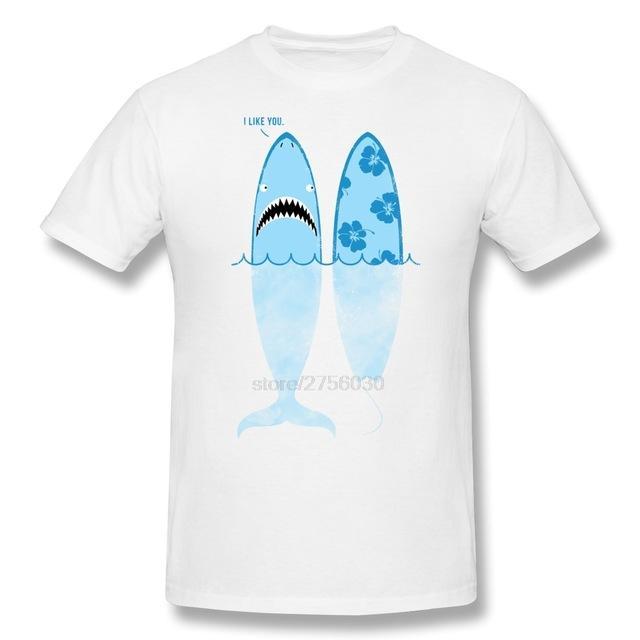 Nouveau Hommes Casual Manches Courtes Requin De Bande Dessinée Comme Hommes T Shirt En Vente Drôle Images Coton T Shirt Pour Garçon Livraison Gratuite