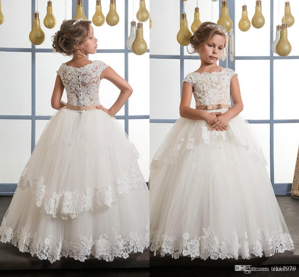 Compre Vestidos Para Niñas Flor De Los Niños Para Bodas Pentelei Con Ilusión Blusa De Tul Blush Vestidos De Niñas árabes Vestido Para Desfile Infantil