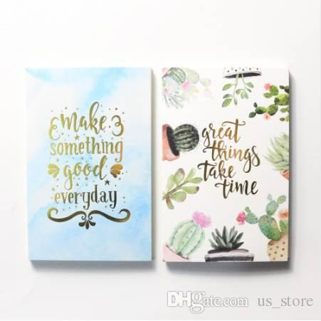 Domikee cute cartoon cactus design notebooks index paper divider accessories,fine office school paper board bookmark stationery