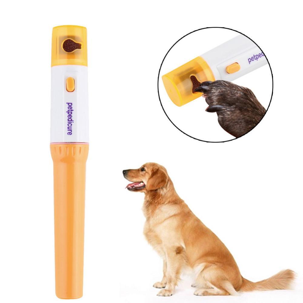 Elektrische schmerzlose Pet Nagelknipser Pedi Pet Dogs Katzen Paw Nail Trimmer Cut Haustiere Schleifdatei Kit Pflegeprodukte Protable kostenloser Versand