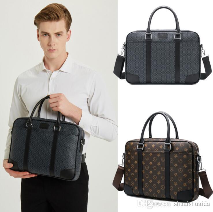 Casual fashion Tote Laptop Bags Computer handbag Women and Men briefcase Single shoulder bag High quality PU