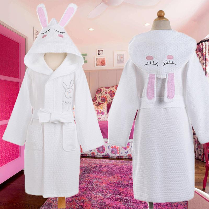 75518b1c84 Children Hooded Bathrobe Kids Boys Girls Cotton Lovely Bath Robes Dressing  Gown Kids Homewear Sleepwear with