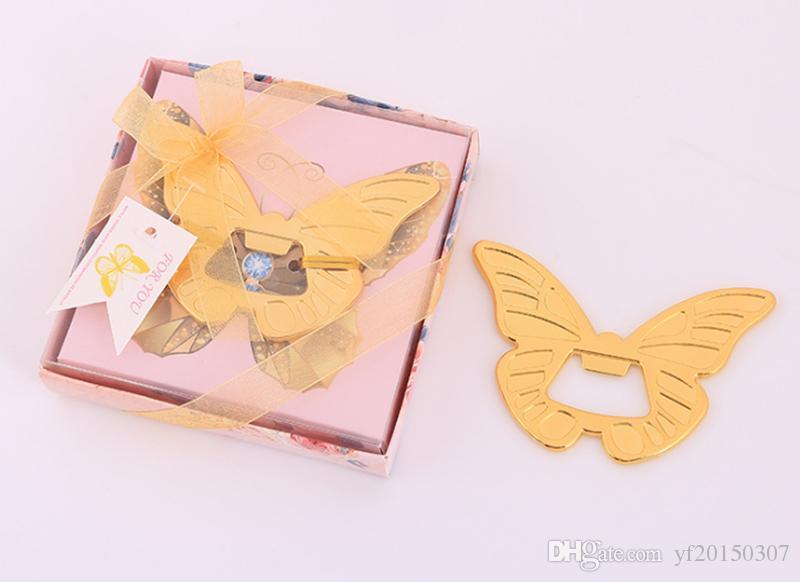 Golden Butterfly Wine Abrebotellas Abridores de vino creativos Regalos de boda Favores de fiesta Regalos para invitados